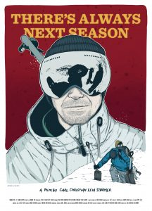 There's always a next season - illustration of a skier with his glasses on