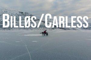 Billøs - En mann som sykler på isen